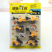 New 6pcs / set mini Diecasts Car Plastic construction vehicle Engineering Car Dump Truck Artificial Model Toys For boy kids