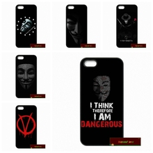 V for Vendetta Mask Phone Cases Cover For iPhone 4 4S 5 5S 5C SE 6 6S 7 Plus 4.7 5.5    #DF0266