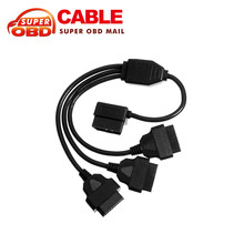50cm OBD2 Cable 1 to 3 Converter Adapter OBD2 splitter Y Cable J1962M to 3-J1962F splitter diagnostic tool Free Shipping