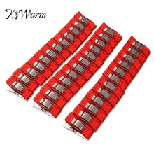 KiWarm 36Pcs Plastic Red Wonder Holding DIY Quilting Clips Craft Fabric Clamps Sewing Crochet Cloth Binding Pegs Support(China)