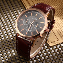 New Fastion Quartz watch men Man wrist watches China cheap Pu Leather Wristwatches Ultra thin 1074(China)