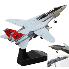 Kids Toys 1/100 Scale Fighter Air Force Aircraft Tomcat Fighter F-14 Alloy Diecast Aircraft Model Toy Gift for Children(China)