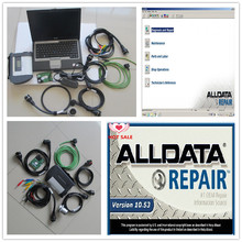 alldata AUTO Repair software v10.53 and 2017.09 mb star c4 with hdd 1tb with laptop D630 diagnostic computer 3g ready to use