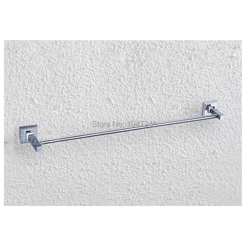 Includes Easy Modern Square Solid Stainless Steel Bathroom Towel Rack Holder Single Wall Mounted Towel Bars<br>