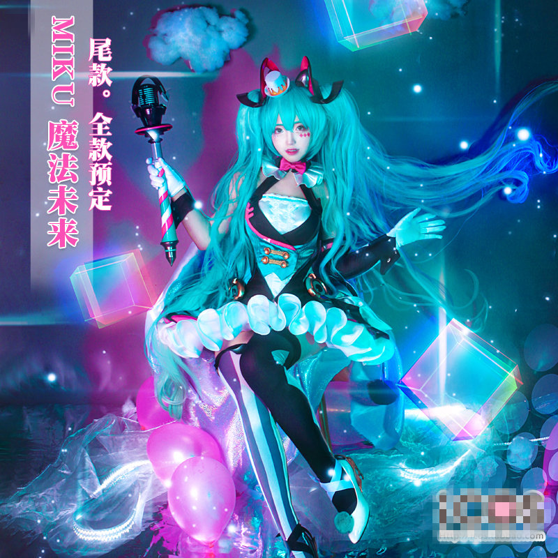 Cosplay Costume Circus-Uniforms VOCALOID Magic-Future Hatsune Miku title=