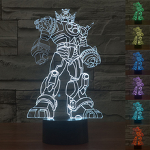Colourful Autobots Transformers 3D Table Lamp Luminaria Led Night Light Kids Children's room Atmosphere lamp great gift for kids(China)