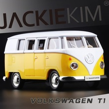 Gift for baby 1pc 1:36 12.5cm Kinsmart delicate Volkswagen Classical bus alloy car pull back model home decoration boy toy