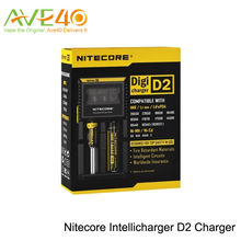 Orignal Nitecore D2 Intellicharger Universal Battery Charger for AA AAA Li ion 26650 18650 Batteries Charging from ave40