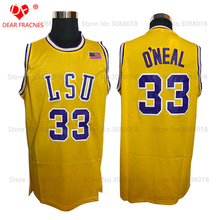 Wholesale Mens Shaquille Oneal Cheap Throwback Basketball Jerseys #33 Shaq O'NEAL COLE HS LSU tiger College Stitched Shirts(China)