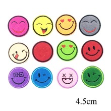Buy Embroidered Emoji Iron Patches Clothing Embroidery Appliques Garment Iron Stickers Clothes DIY Sewing Badges for $1.79 in AliExpress store
