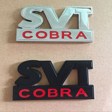 3D Metal SVT COBRA Rear Trunk Badge Emblem for Ford Mustang GT V6 Styling Chrome Decal Accessory