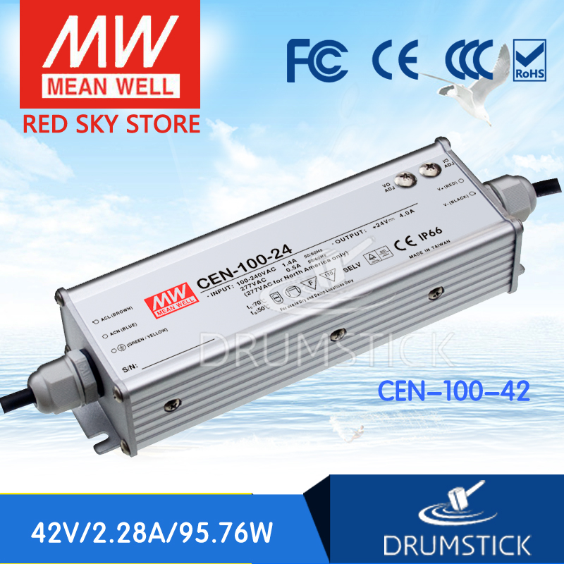 Hot sale MEAN WELL CEN-100-42 42V 2.28A meanwell CEN-100 42V 95.76W Single Output LED Power Supply<br>