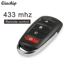 QIACHIP 433mhz DC 12V Remote Control Switch 4 Button Copy Cloning Electric Garage Door Security Alarm Controller Key Fob Car Key(China)