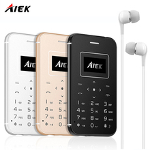 2017 AIEK X8 Ultra Thin Card Mobile Phone Low Radiation mini pocket students personality children phone PK SOYES M5 X7 telephone(China)