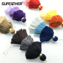 GUFEATHER 3 layer cotton tassels/jewelry accessories/jewelry findings/accessories for jewelry/tassel accessories