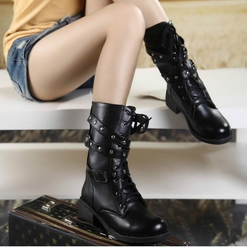 High quality woman boots plus size 35-42 motorcycle chelsea boots black  Martin boots shoes zapatos mujer ankle boots snow warm<br><br>Aliexpress