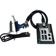 PCIe PCI express USB 2.0 To ExpressCard 34 mm 54 mm slot Adapter PCIexpress to Express Card Converter Reader ADP09922(China)