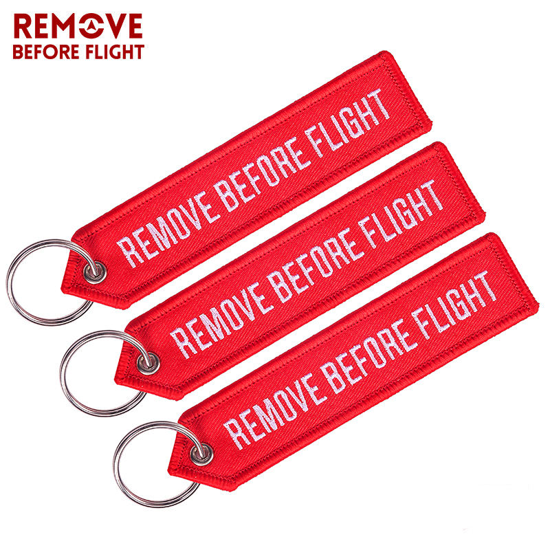 Remove Before Flight OEM Key Chains Berloques Red Embroidery Highlight Key Fobs Chains Jewelry Aviation Gifts Chaveiro Masculino (3)