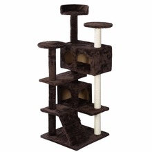 New Cat Tree Tower Condo Furniture Scratch Post Kitty Pet House Play Brown  PS5791BN