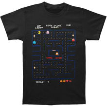 Pac-Man Men's Game Screen T-shirt XXX-Large Black T Shirt Male Hipster Tops Cheap Crew Neck Men'S Top Tee Short Sleeve(China)