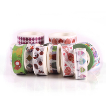 Wholesale 1.5cm*10m  various patterns hot popular printed japanese washy tape