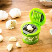 Hot Selling Practical Garlic Chopper Plastic Stainless Steel Garlic Press Multi Functional Ginger Mashing Machine Kitchen Tools(China)