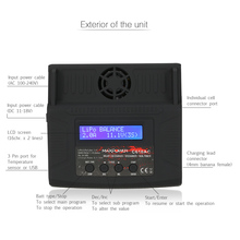 C610AC 10A/100W AC/DC Dual Power Rapid Balance Charger/Discharger for LiPo/LiFe/Lilo/NiMH/NiCd/Pd Batteries RC Battery Charger