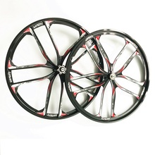 High quality 1 pair of mountain bike Magnesium alloy wheels suitable for 6-7 speed performance over Mavic DT 26 inch MTB