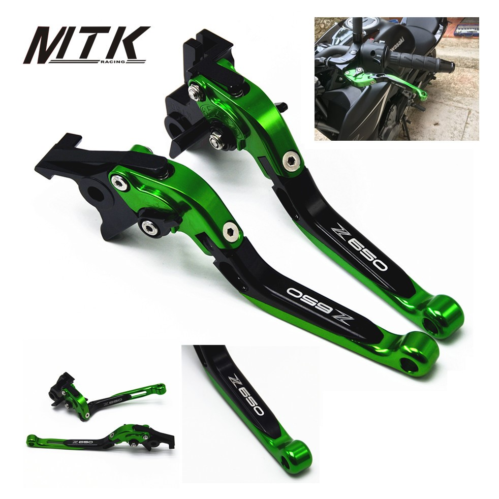 MTKRACING  Motorcycle Adjustable Folding Extendable Brake Clutch Lever For Kawasaki Z650 Z 650 2017 <br>