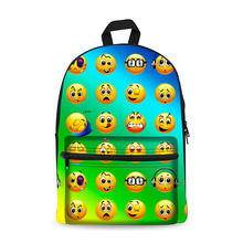 Backpack Emoji Straberry 3D Prints School Bags Boys and Girls Multi Compartment Casual Travel Suitcase Laptop Bookbag P(China)