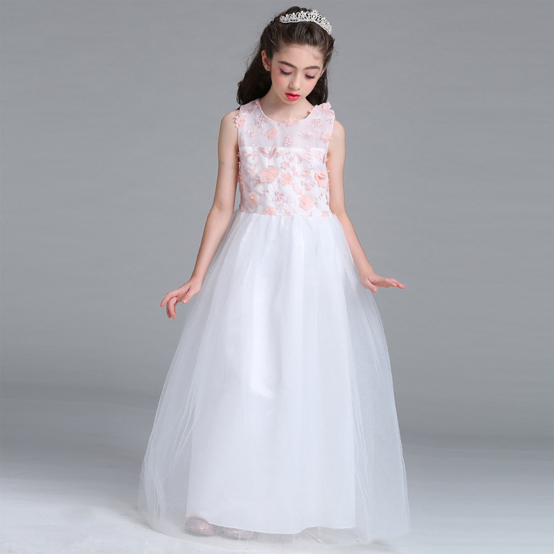 2017 Teens Girls Prom Dress for Party and Wedding Teenagers Evening Gowns Bbay Children Clothes Monsoon Kids Long Dress 4-15 Yrs<br>