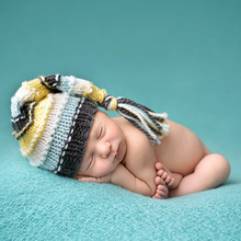 Baby Infant Winter Warm Wool Crochet Knitted Hat Cap Beanie Sweet Newborns Photography Props 2 Sizes For 0-4 Months Baby(China)