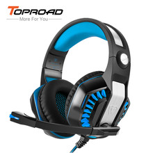 TOPROAD GM-2 Gaming Headset for PS4 PSP PC Tablet Laptop Led Light Headphone with Mic Headband Glowing Super Bass audifonos(China)