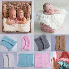 New Arrival Woolen baby photography props Newborn Photography Wraps Handmade Flower Headband Baby Photo props Accessories(China)