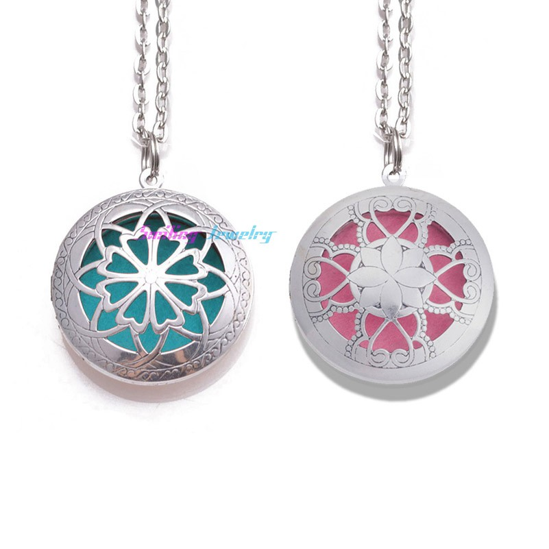 10pcs-24-With-Chain-Pads-Round-Antique-Silver-Aromatherapy-Lockets-Pendants-Perfume-Essential-Oil-Diffuser-Locket