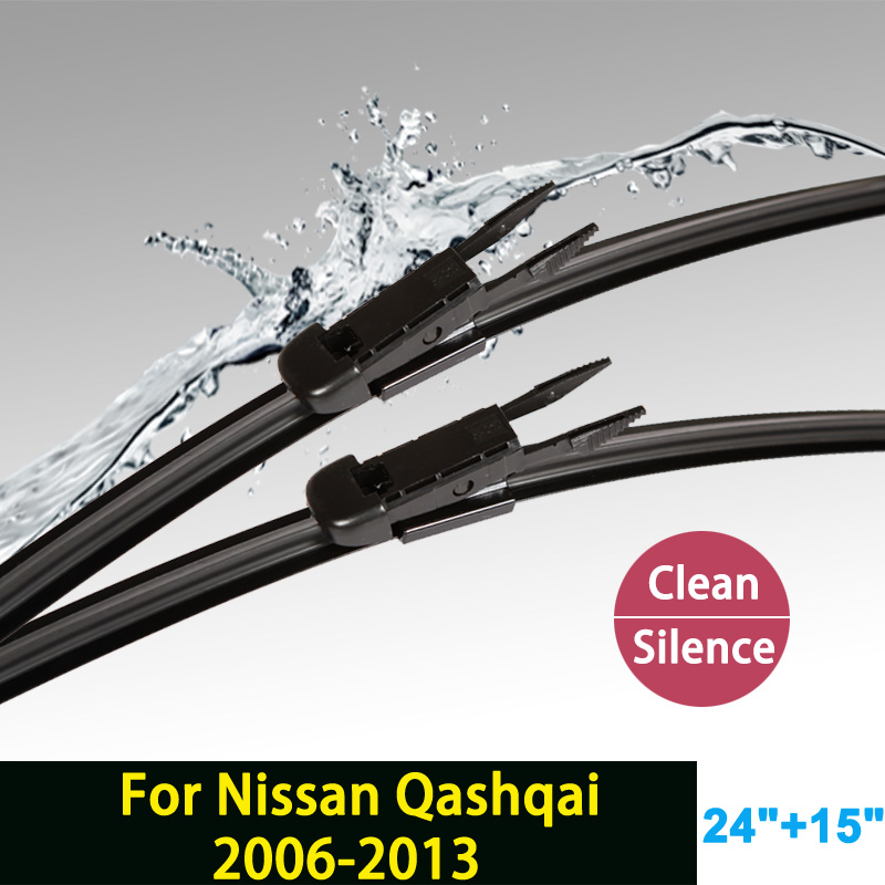 Wiper blade for Nissan Qashqai (2006-2013) 24+15 fit pinch tab type wiper arms only HY-017<br><br>Aliexpress
