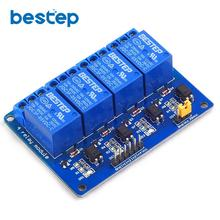 Blue 4 Channel 5V Relay Module 5V 4Channel Relay Output 4-Channel 4 Way Relay Module Shield for Arduino