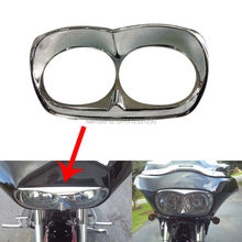 Chrome Bad Boy Harley Road Glide Head light Bezel scowl for outer fairing Custom Free Shipping(China)