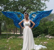 stage performance adult large props nice angel feather wings lingerie catwalk shows props cosplay windows feather wings
