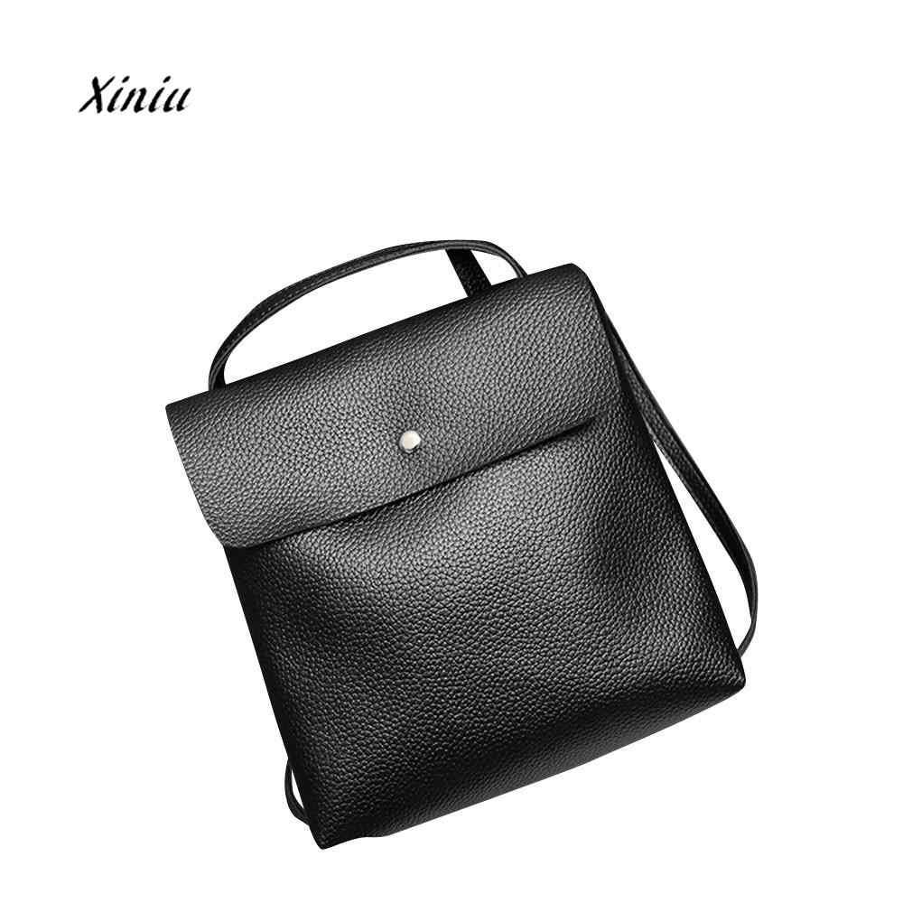 be0a37cd4d9 Fashion Women Leather Backpack Rucksack Travel School Bag Shoulder Bags  Satchel Girls Mochila Feminina School Bags