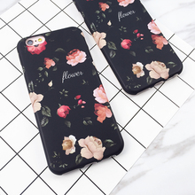 New Arrival Retro Romantic Rose Flowers Pattern For Iphone7 7 Plus 6 6S Plus Hard IMD Anti Shock Mobile Phone Cases YC2079