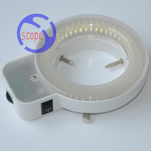 FYSCOPE 144 pcs can control LED Light white ring microscope illumination Microscope led light(China)