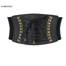 Buy Kimring Vintage Steampunk Corset Belt Retro Gothic Lace Underbust Corset Waist Belt Corset Bustier Waist Cincher Corselet for $11.99 in AliExpress store