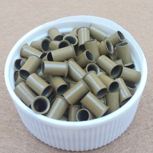 1000pcs 3.4mm long   flared flaring euro locks trumpet  copper  tube micro beads links for hair extension tool