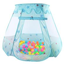 Portable Children's Ten Kids Play Tents Indoor Outdoor Play House Baby Ocean Ball Pit Pool Princess Tent for Girls Baby(China)