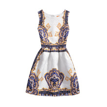 Mothers Summer Girls Dress Sleeveless Butterfly Flower Elegant Vintage Girls clothing Mother daughter Princess Party Dresses(China)