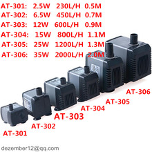 12-35W Aquarium Submersible Water Pump Fish Tank Sump Liquid Filter 230L/H - 2000L/H Various Outlet Connectors
