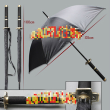 New Hot Unique Creative Sauron Three Knife Cartoon Cosplay Umbrella Samurai Sword Umbrella  Home Decor Birthday Gift