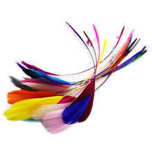 Cheap for Sale 24pcs Wild Colorful Turkey Feathers Wedding Decoration Party Elegant American Indian Headdress  for Home Decor