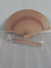 Sunflower Design Fragrance Wood Folding Fan Chinese Hand Fan For Wedding Favor Gift With Gift Bag Sandalwood Fan(China)